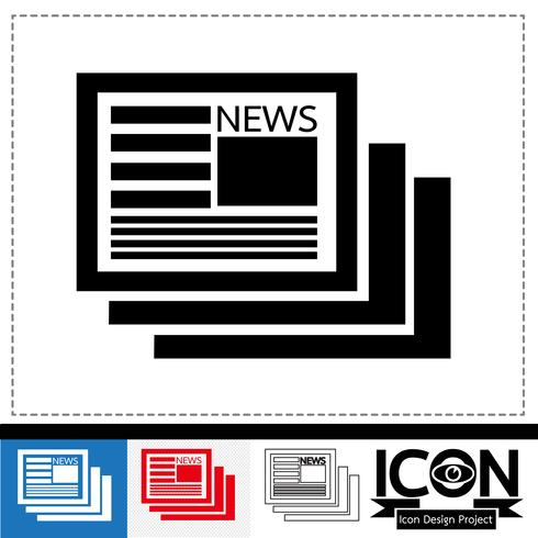 Nachrichten Symbol Symbol Zeichen vektor