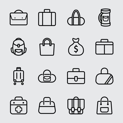 Bag line icon vektor