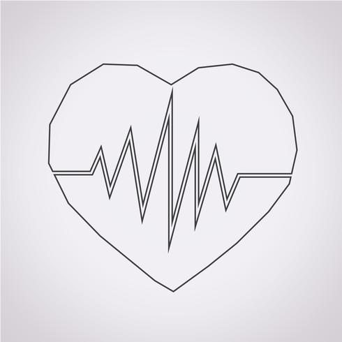 hjärtslag ikon symbol tecken vektor