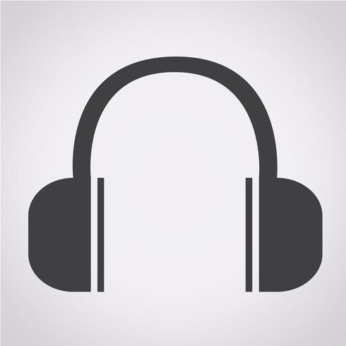 Hörlurar ikon symbol tecken vektor