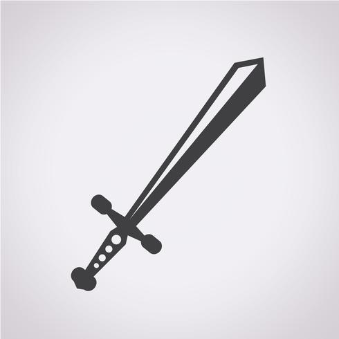 svärd ikon symbol tecken vektor