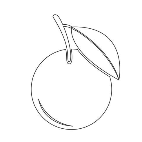 Orange ikon symbol tecken vektor