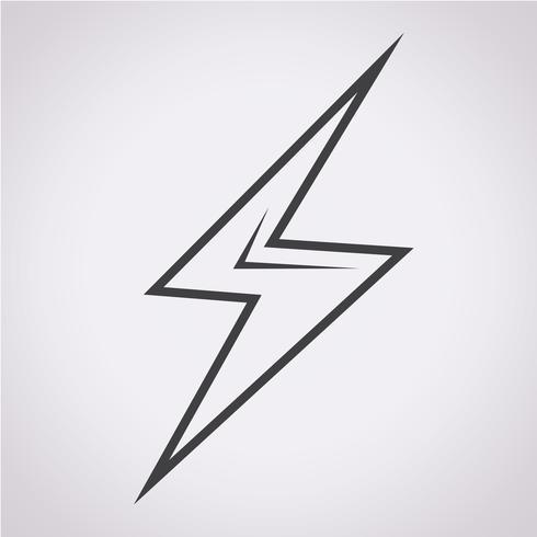 blixt ikon symbol tecken vektor
