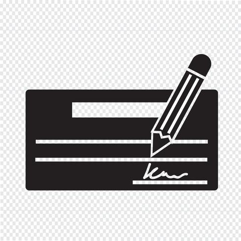 Überprüfen Sie das Symbol Symbol Zeichen vektor