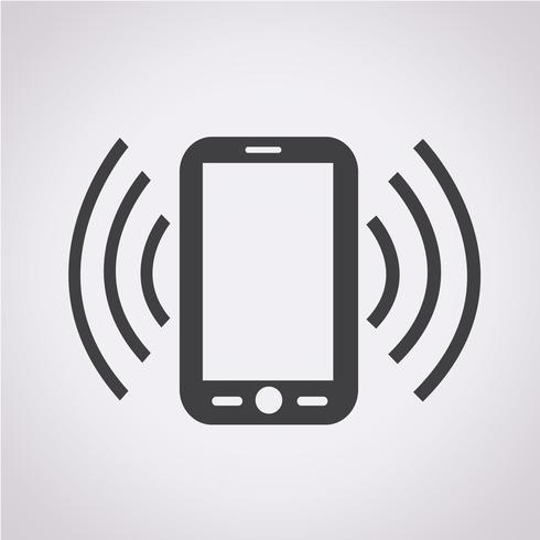 Telefon Symbol Symbol Zeichen vektor
