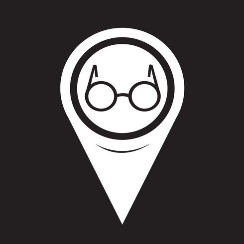 Karta Pekare Glasögon Ikon vektor