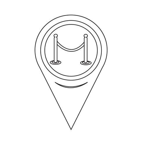 Kartpekaren barrikadesymbol vektor