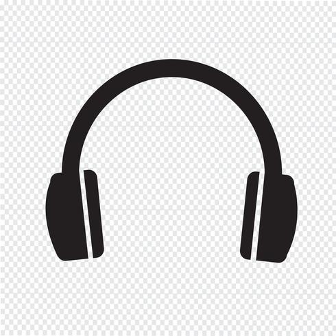Kopfhörer Symbol Symbol Zeichen vektor