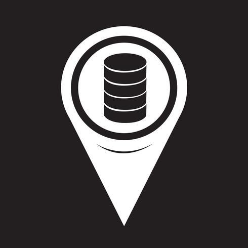 Kartenzeiger-Datenbank-Symbol vektor