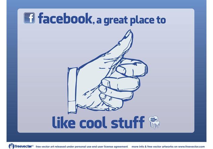 Facebook mögen vektor