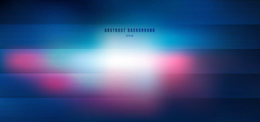 Abstrakt suddig blått och rosa med belysning radiell effektbakgrund vektor