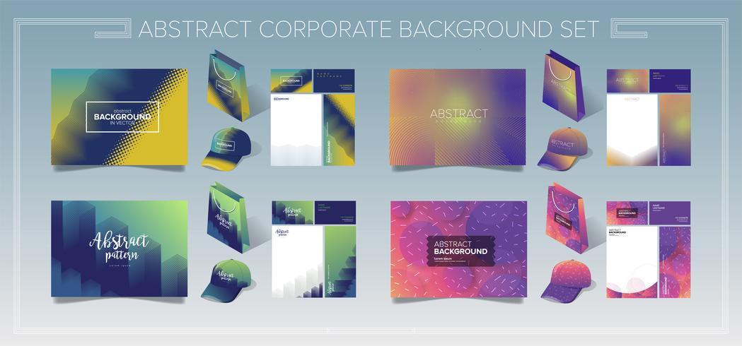 Corporate Identity-Vorlagensatz vektor