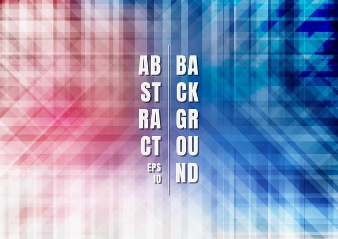 Abstrakt randig geometrisk färgrik blå och röd bakgrund vektor