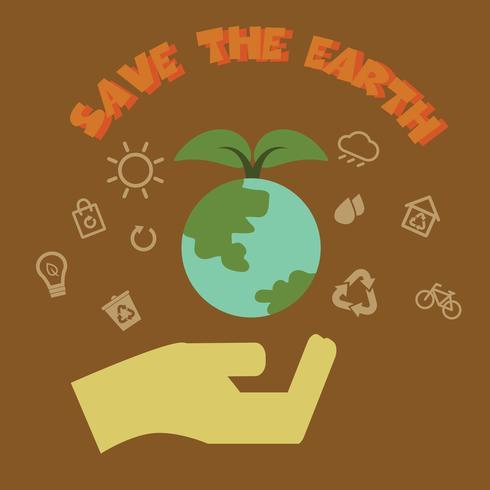 rette die Erde vektor