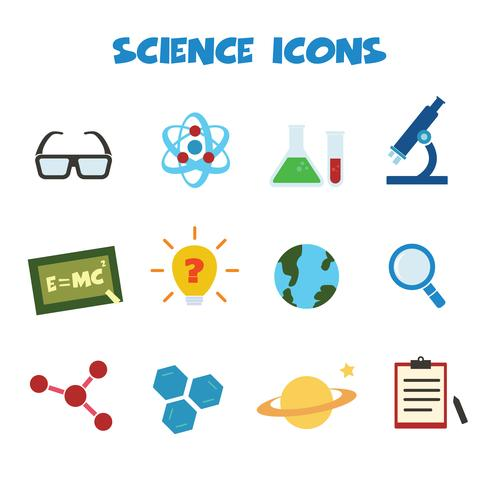 Wissenschaft Farbsymbole vektor