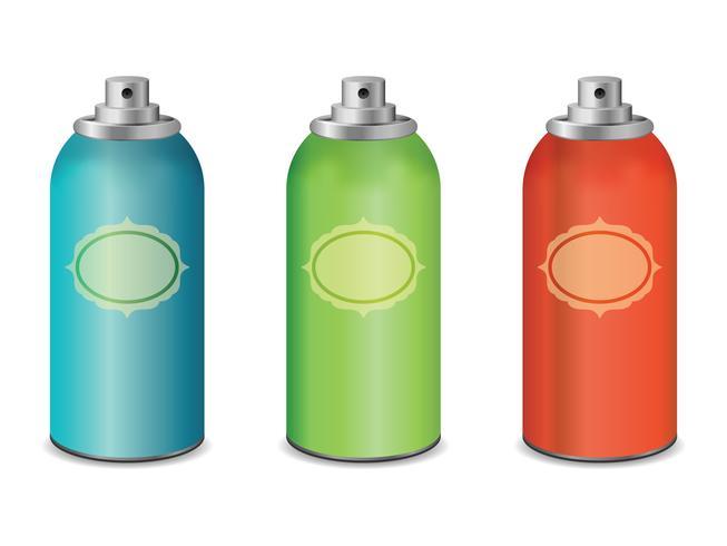 spray flaskor vektor design
