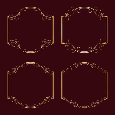 Samlingsramar för dekoration. vektor