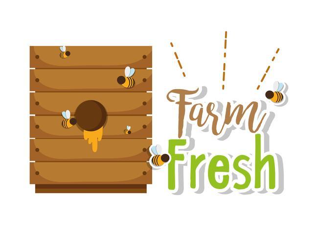 Jordbruk färska produkter vektor