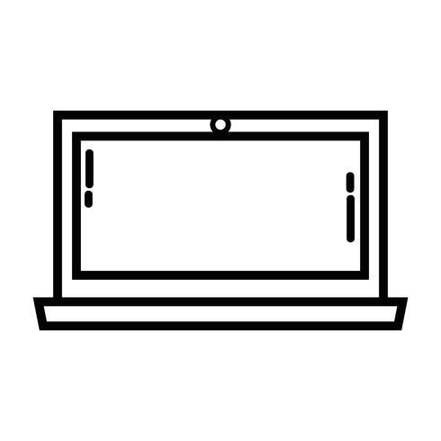 linje bärbar datorskärm elektronisk teknologi vektor