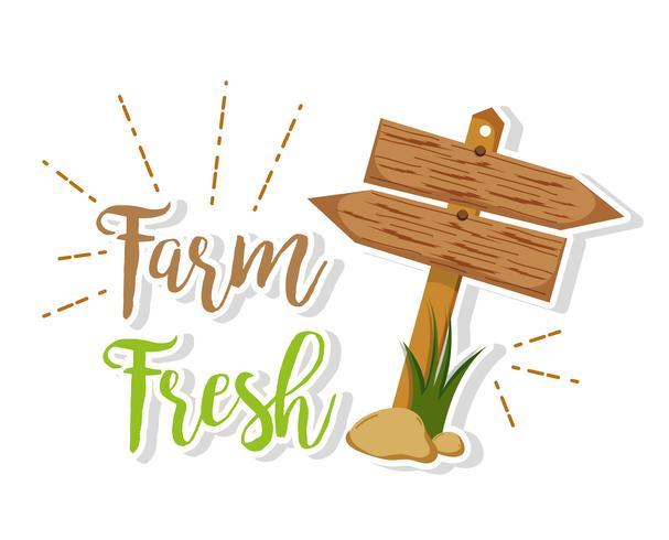 Bauernhof frische Produkte vektor