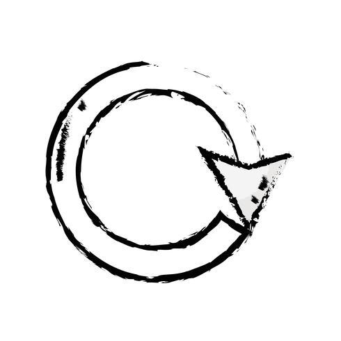 Abbildung Pfeil Kreis Zeichen Ladevorgang vektor