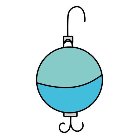 Löffel Fisch Objekt zum Angeln Erholung vektor