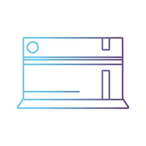 Line-Videospielkonsole elektronische Technologie vektor