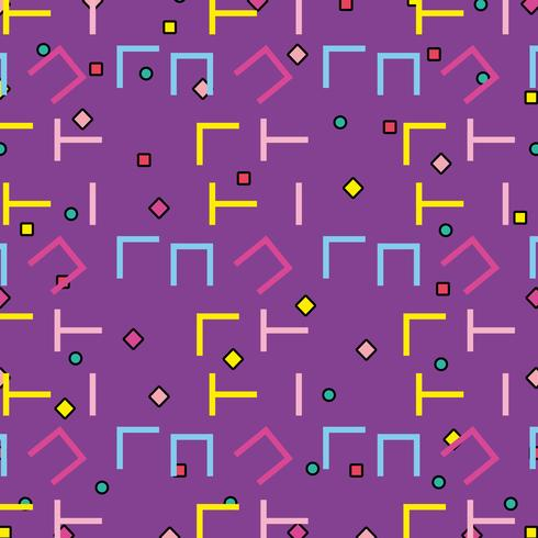 Memphis mönster bakgrund vektor