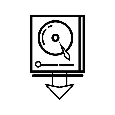Line Data HDD System Server-Technologie vektor