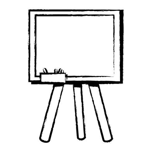 Figur Schultafel mit Holzrahmen Design vektor