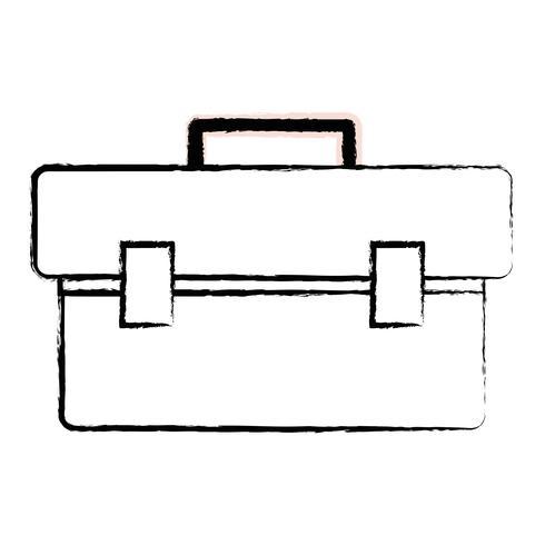 figurbox verktygsutrustning för att reparera konstruktion vektor