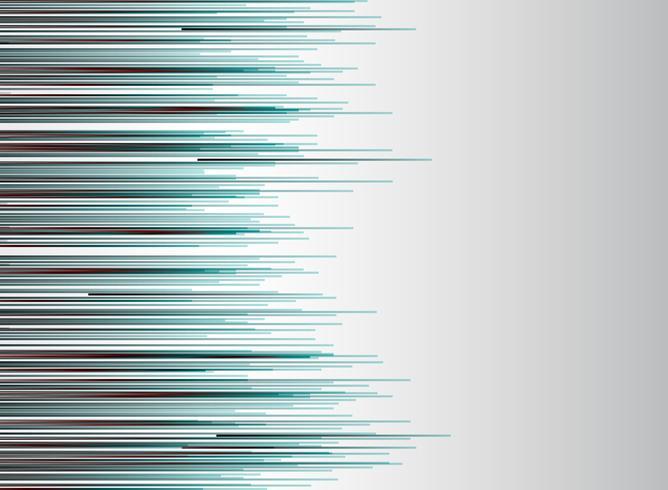 Abstrakte Technologie zeichnet horizontale rote und blaue Farbgeschwindigkeits-Bewegungsbewegung auf weißem Hintergrund. vektor