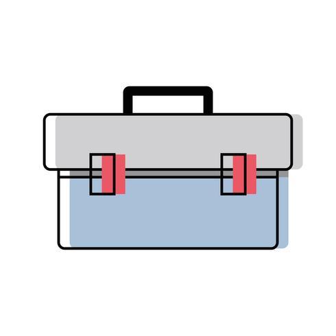 låda verktygsutrustning för att reparera konstruktion vektor