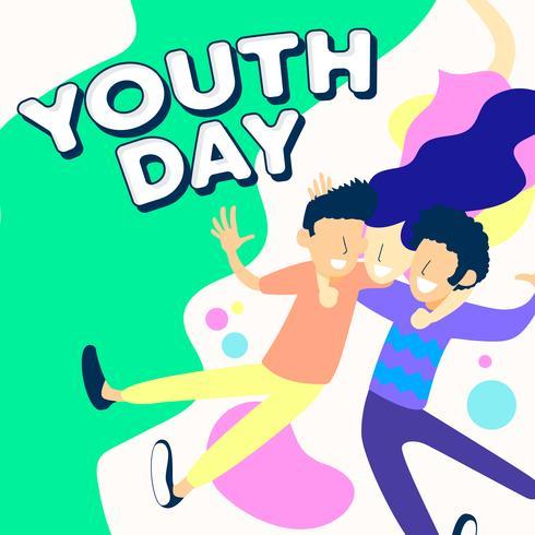 ungdomars dagvektordesign, vänskapsdag vektor