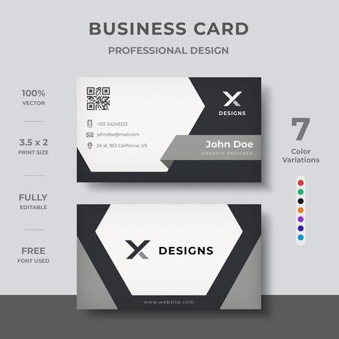 Modernes Corporate-Visitenkarten-Design vektor