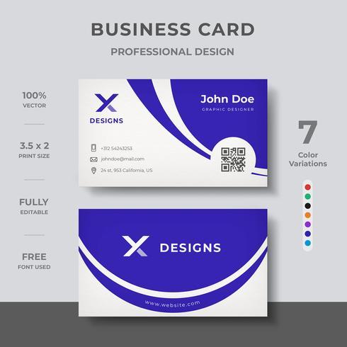 Corporate Visitenkarten-Design vektor
