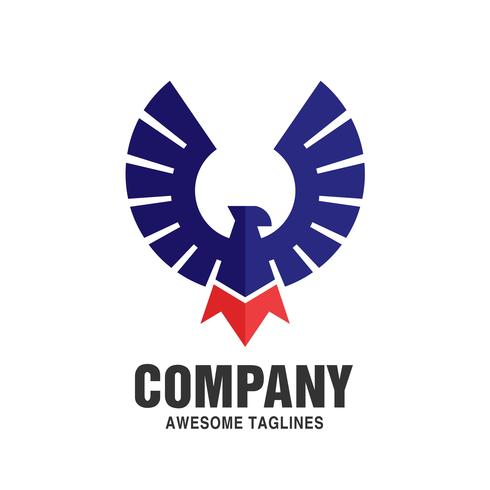 Eagle Bird logotyp vektor