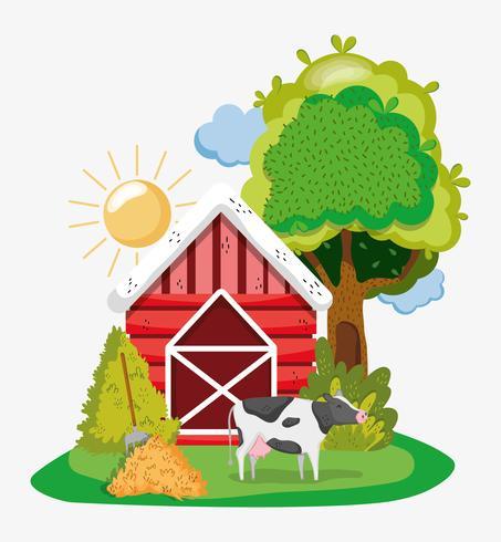 Farm niedlichen Cartoons vektor