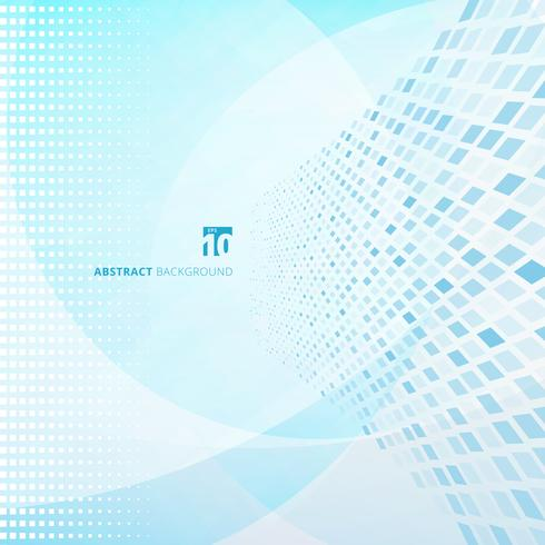 Abstrakte Technologiedaten, die intelligentes System sortieren. Große Daten. Muster-Perspektivenhintergrund der blauen Quadrate. vektor