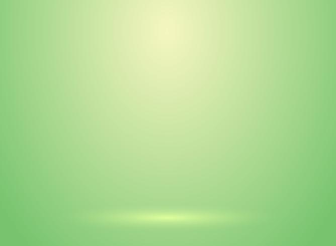 Studioraumgrün lihjt Hintergrund mit Beleuchtungsbrunnengebrauch als Geschäftshintergrund vektor