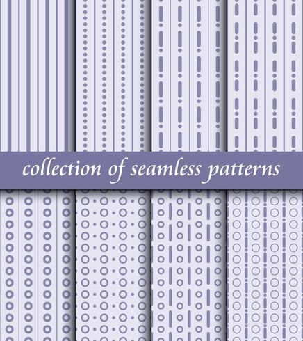 Satz nahtlose Muster des Art Deco. Stilvolle moderne Texturen. abstrakte Hintergründe vektor