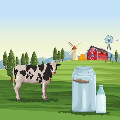 Bauernmilch natürlich vektor