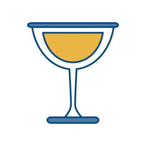 Weinglas-Symbol vektor