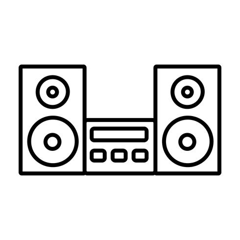 Stereosystem-Symbol vektor
