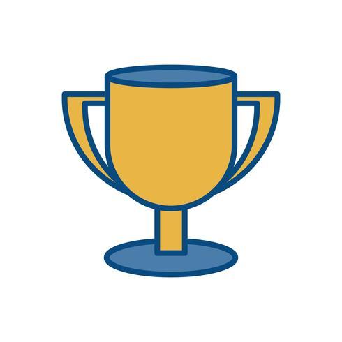 Pokal-Symbol vektor