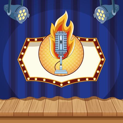 Entertainment-Show-Konzept vektor