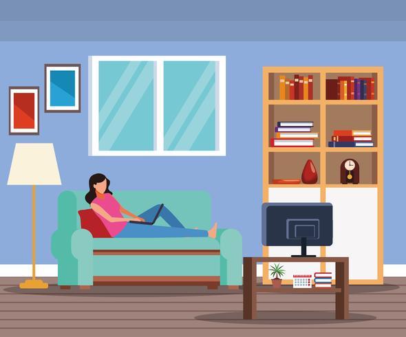 aktiviteter och fritid hemma vektor