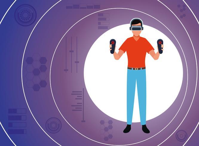 Virtual reality-teknik vektor