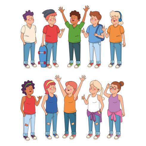 Cartoons für Jungen und Mädchen vektor