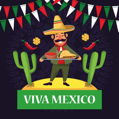 Viva mexikoteckningar vektor